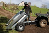 ATV / Quad Mechanical Tipping Trailer | Quad X Trailers